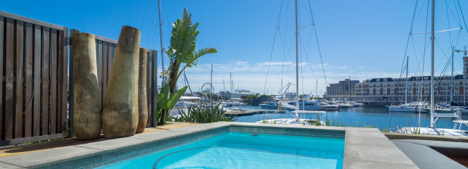 exclusive apartment swimming pool cape town