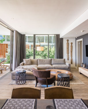 luxury holiday rentals cape town living room
